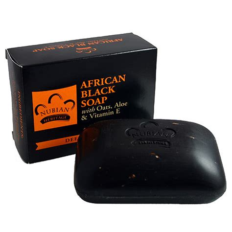 Sabun Heritage black soap by nubian heritage soap company soapquest