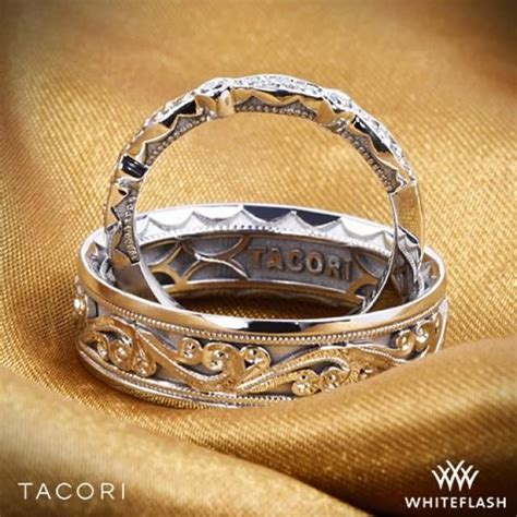 Wedding Ring Kl by 6mm 18k White Gold Tacori Sculpted Crescent Eternity