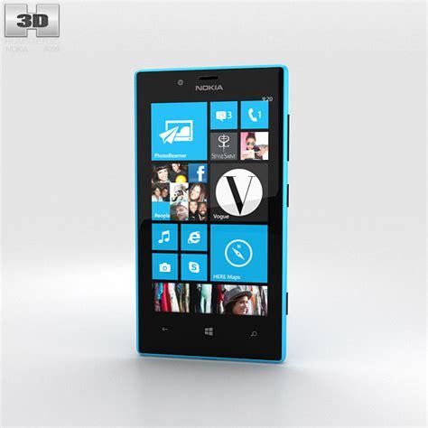 Nokia Lumia Cyan nokia lumia 720 cyan 3d model hum3d