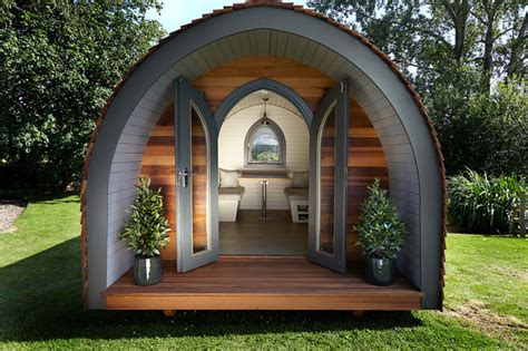 Shed Designs by Garden Hideouts Retreat Pod Eclectic Garden Shed And