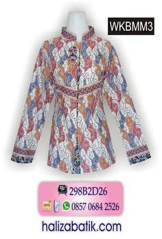 Baju Berkerah Dc blus batik rangrang kombinasi polos r01ba rp 115 000 cocok untuk seragam batik kantor model