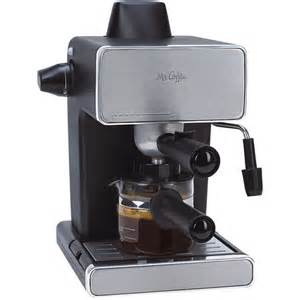 mr coffee espresso maker stainless steel and black