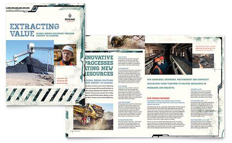 company brochures templates mining company brochure template design