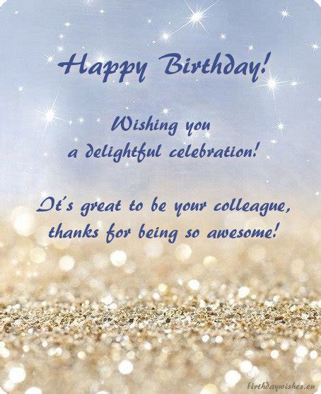 Happy Birthday Card For Colleague