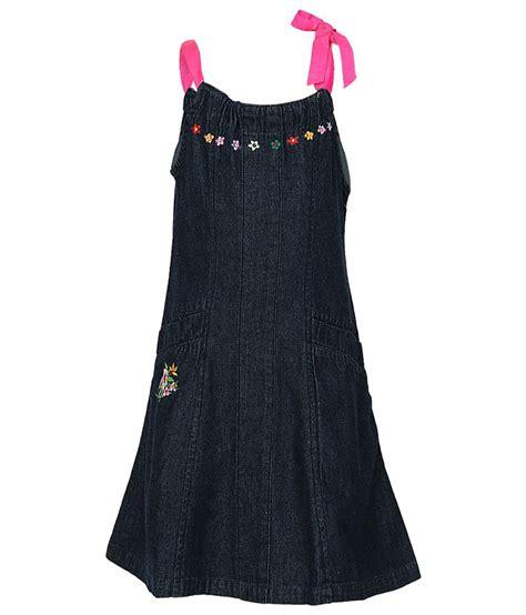 Dress Denim Ribbon cool quotient denim satin ribbon tie up dress blue buy