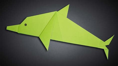 How To Make A Dolphin Out Of Paper - how to make a paper dolphin step by step easy origami