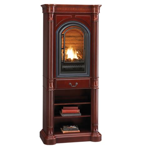 shop procom traditional cherry corner tower mantel at
