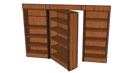 secret bookcase door hinge 187 woodworktips