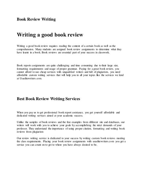 proper book report format book review writing