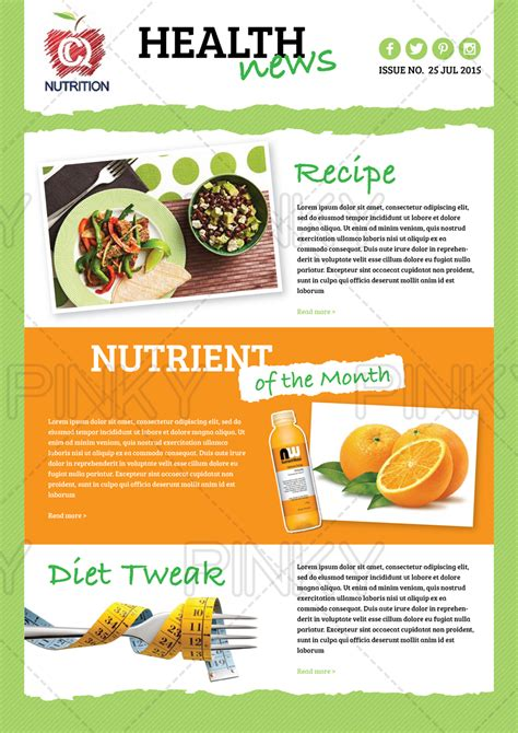 health and wellness newsletter template colorful bold newsletter design for stacey hughes by