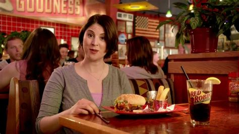 commercial actress red robin red robin bottomless steak fries tv spot booyah ispot tv