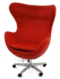 Inner office chair in leather red modern chairs by zopalo