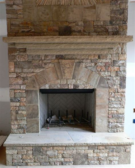 stacked stone fireplace real stack stone mantles