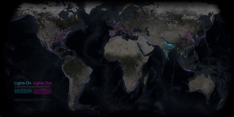 lights of the world 2017 new nighttime map shows earth in whole new light