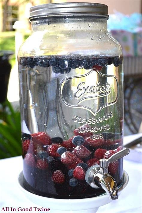 Strawberry Blueberry Detox Water by Berry Infused Water Recipe Beverage For 4th Of July