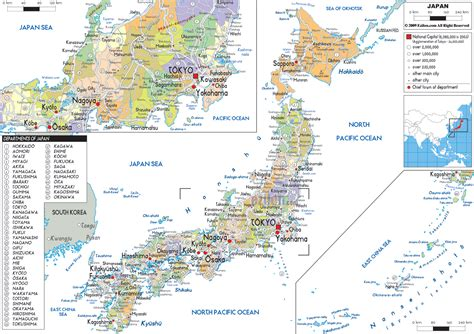 political map of japan detailed political map of japan ezilon maps