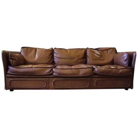 mid century modern leather sofa mid century modern gorgeous leather sofa by roche bobois