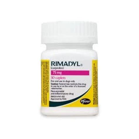 rimadyl 75mg for dogs rimadyl carprofen for dogs 75 mg 30 caplets vetdepot