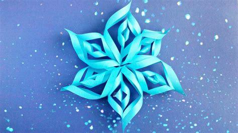 3d Snowflake Origami - modular 3d origami snowflake tutorial easy