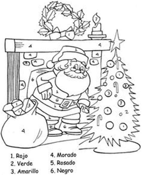 christmas coloring pages in spanish christmas spanish color by numbers christmas pinterest