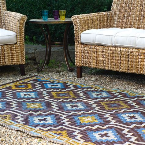 outdoor rugs lhasa outdoor rug in blue brown outdoor rugs cuckooland