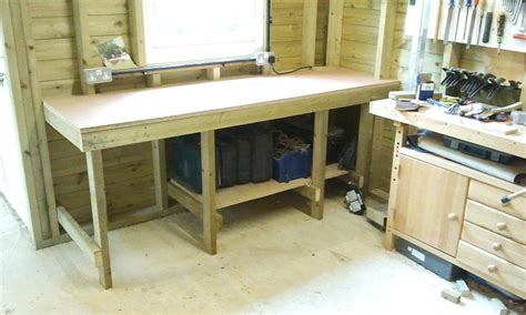 shed benches daisy grace wheels on the dinghy and new workbench in the