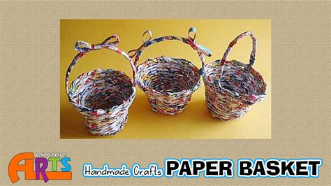 Paper Basket Craft Ideas - paper basket handmade paper crafts in amma arts