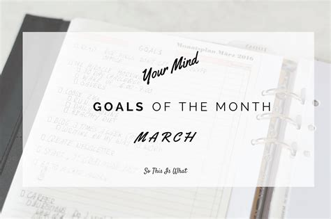 goals   month march