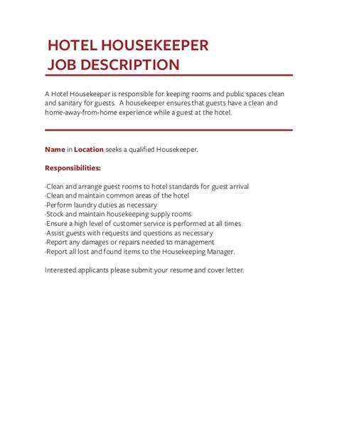 housekeeping duties 16 housekeeping supervisor cover letter sle auditor