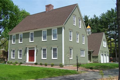 Saltbox Style House Cch Residential Settlement Traditional Exterior