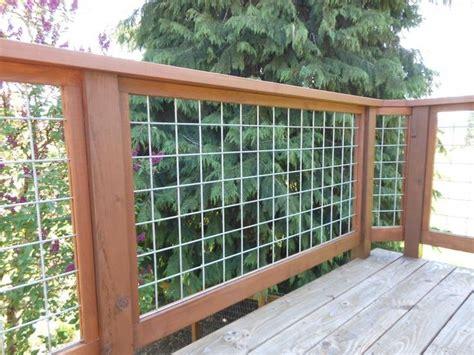 Hog Panel Deck Railing by Hog Wire Deck Railing