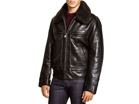 Leather Nyc marc new york carmine aviator leather bomber jacket in