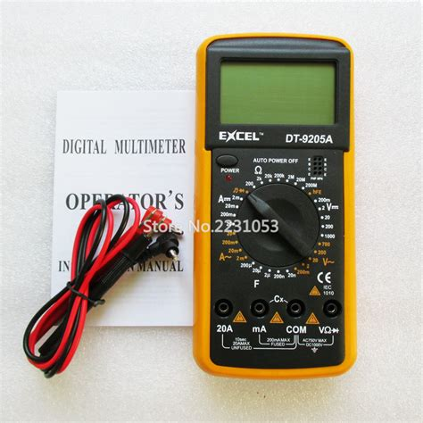 Digital Multitester Multimeter Dt 9205e dt9205a ac dc lcd display professional electric handheld