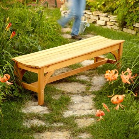 make a garden bench how to build a garden bench