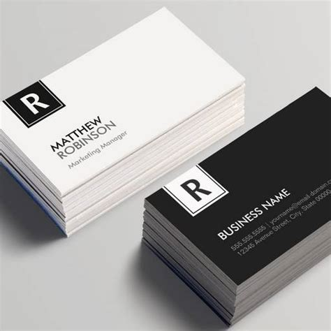 business card monogram template monogram business card templates bizcardstudio