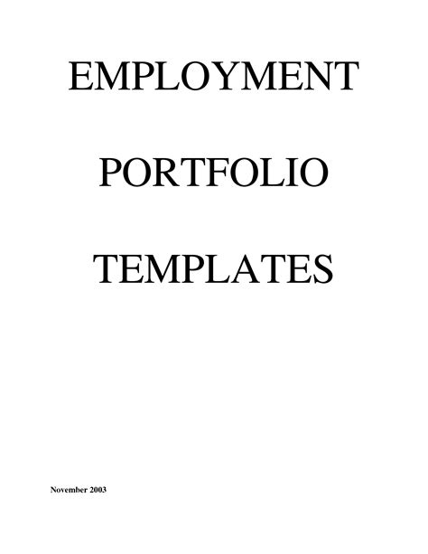 best photos of portfolio cover page template career