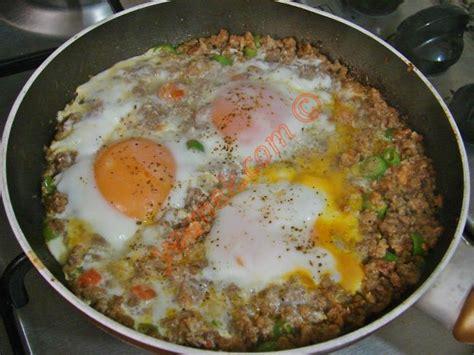 yumurta tarifi kıymalı yumurta nasıl yapılır 6 8 resimli yemek tarifleri