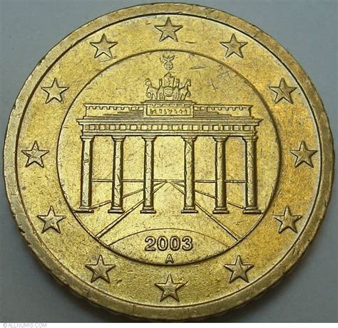 50 buro cent 50 cent 2003 a 2002 present germany coin