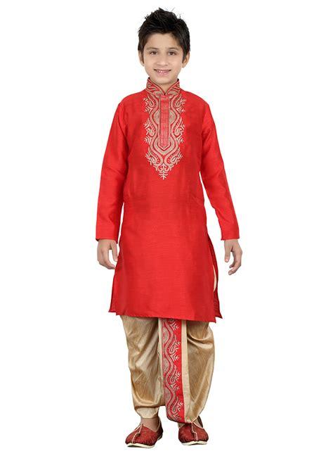 dhoti pattern kurti online buy red kids dhoti kurta boys dhoti kurta online