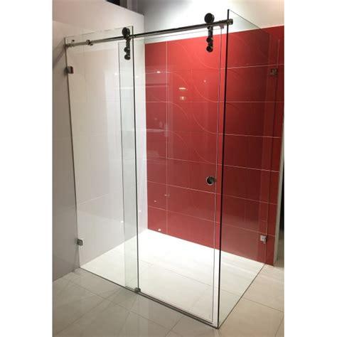 Sliding Door Shower Screen Frameless Sliding Shower Doors Rubbed Bronze Shower Faucet With Shower Bathroom Ed