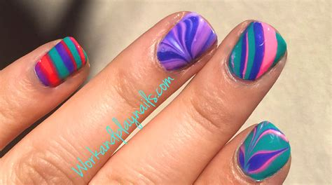 russian nail art tutorial beginners water marble tutorial nail sticker method