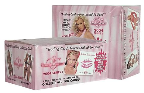 bench warmer trading cards bench warmer 2004 series 1 display box bench warmer