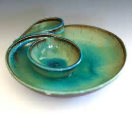 chip and dip handmade ceramic dish from ocpottery on etsy