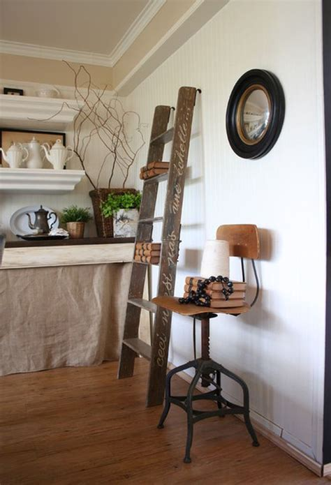 ladders  unexpected interior decor element  lots