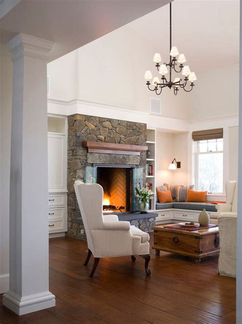 seating in front of fireplace 30 window seats cozy space saving and great for