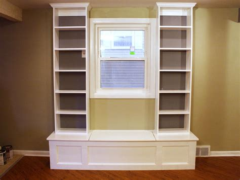 make window how to build a window bench with shelving how tos diy