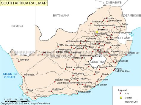 south africa rail map