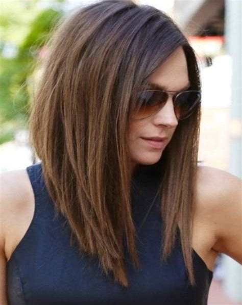 long bob for heavy face shoulder length hair style round face newhairstylesclub