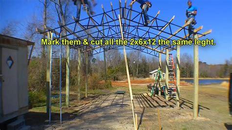 armour metals steel truss pole barn kit diy youtube
