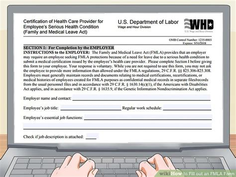 fmla form how to fill out an fmla form 12 steps with pictures